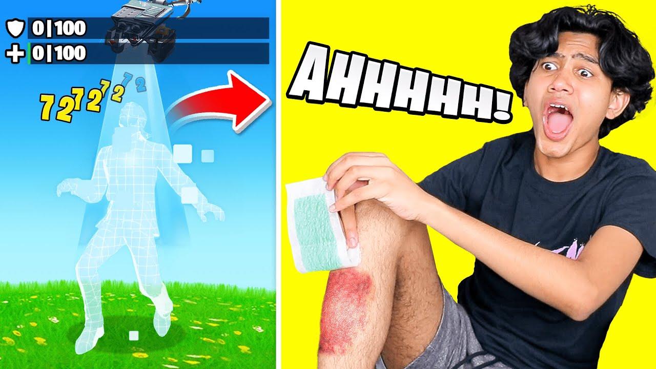 WAXING my leg every time I die in Fortnite