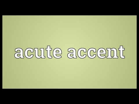 Acute accent Meaning