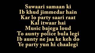 PARTY ALL NIGHT LYRICS - Boss song by HONEY SINGH