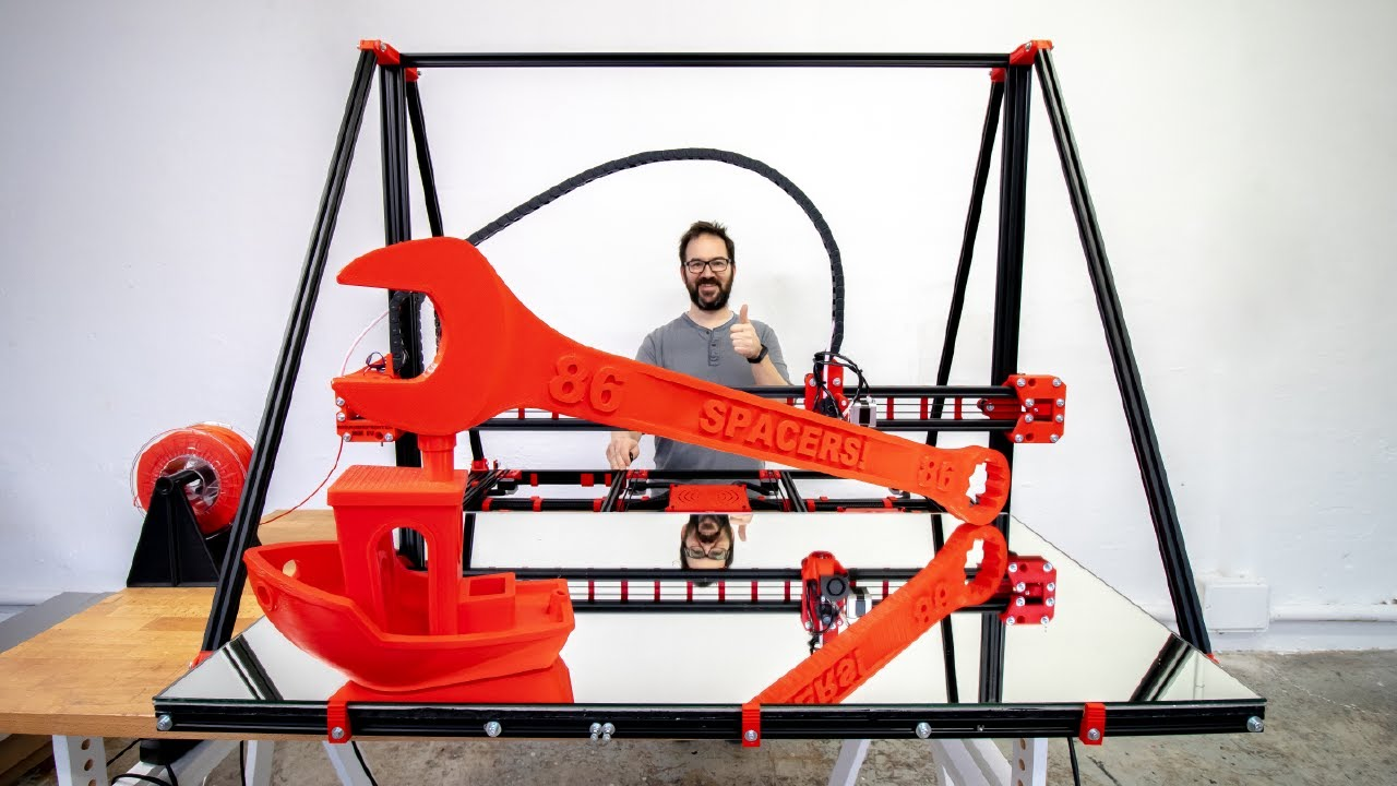 GIANT 3D PRINTER FROM SCRATCH (new version)
