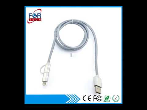 Shenzhen 2in1 Micro USB Cables Wholesale Supplier