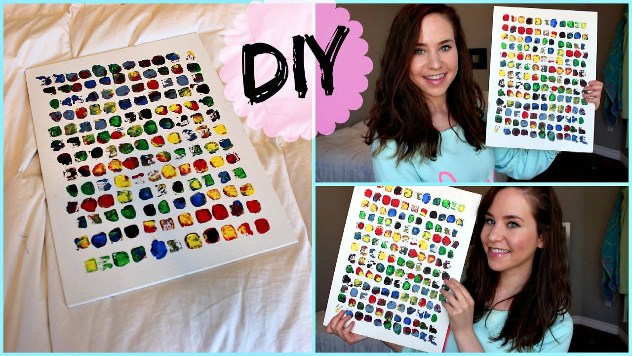 DIY Room Decor: Wall Art   YouTube Part 96