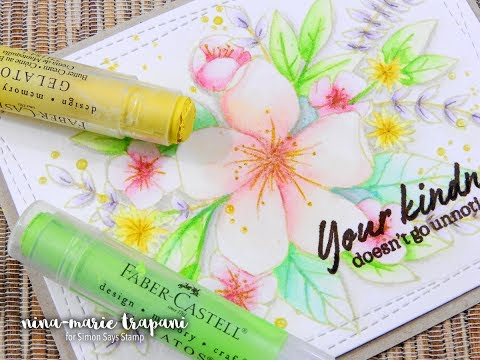 No-Line Watercoloring with Faber Castell Gelatos
