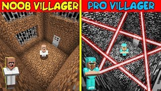 BANK ROBBERY BATTLE! NOOB VILLAGER vs PRO VILLAGER! Challenge in Minecraft Animation!