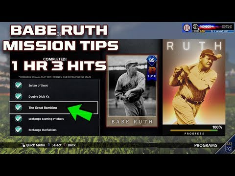 Immortal Babe Ruth Mission Tips  Great Bambino Mission Tips  MLB The Show 18