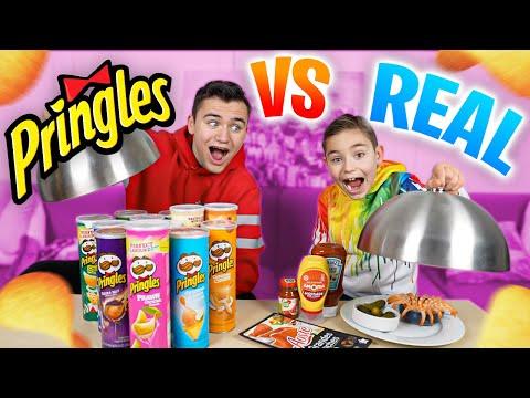 PRINGLES VS REAL FOOD CHALLENGE #2 - Vraie nourriture ou Pringles ?
