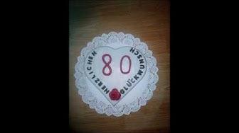 80. Geburtstag, originelles Geschenk (gift)