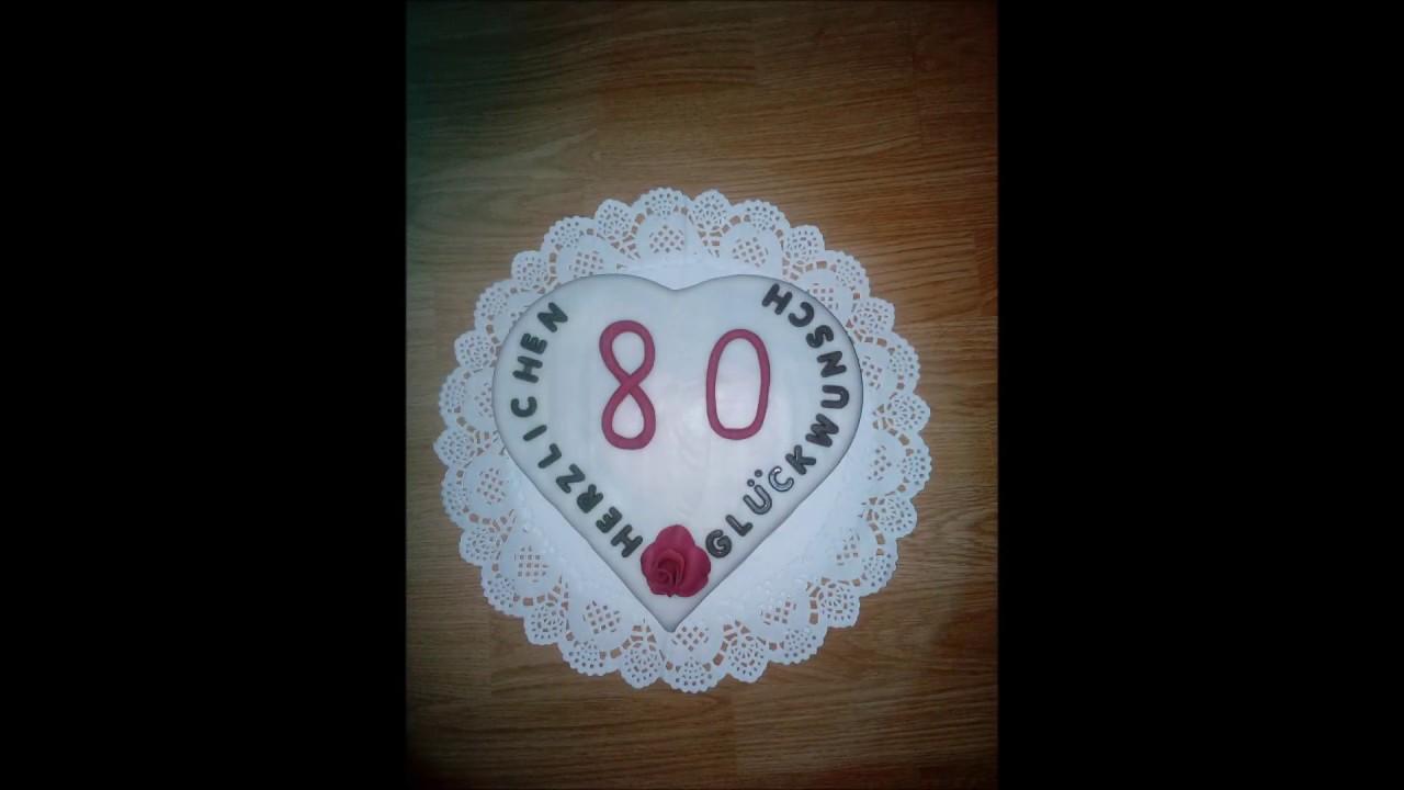 80 Geburtstag Originelles Geschenk Gift Youtube