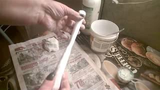 как просто сделать массу для лепки из шпаклевки и даже не запачкать руки