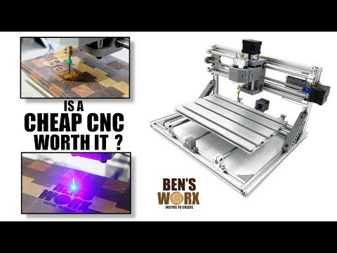 Testing a 3018 3 Axis mini cnc router with 2500mw laser module