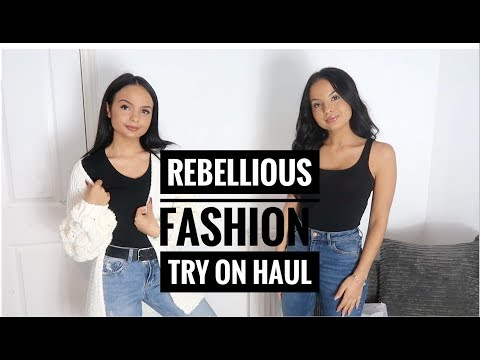 REBELLIOUS FASHION TRY ON HAUL - AYSE AND ZELIHA