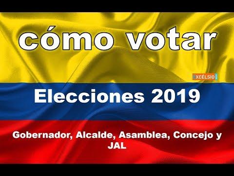 Cómo votar en las elecciones del 27 de Octubre 2019 - Colombia
