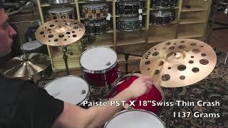 Paiste 18 PSTX Swiss Thin Crash-Demo of Exact Cymbal-1137g