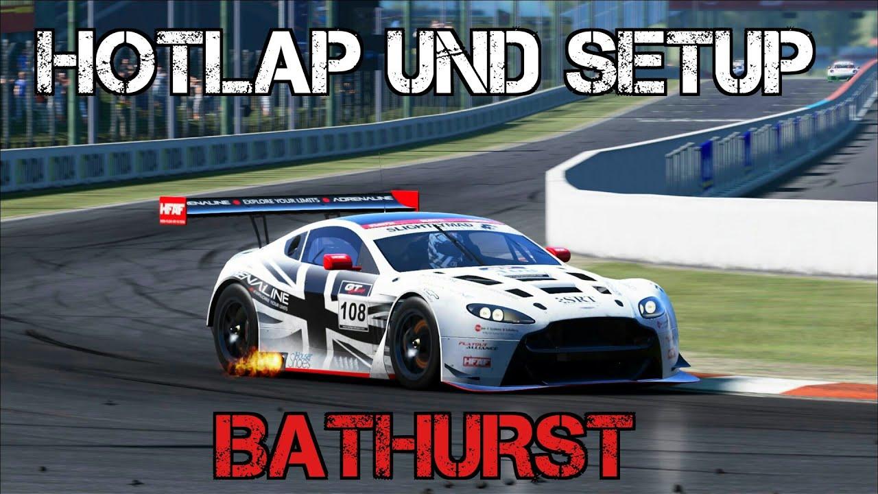 aston martin racing v12 vantage gt3 hotlap und setup bathurst