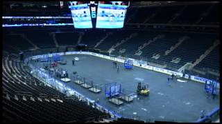 Madison Square Garden Changeover from Basketball to Hockey 1-30-16