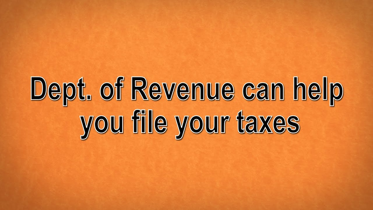 Missouri Dept Of Revenue Can Help You File Your Taxes Youtube