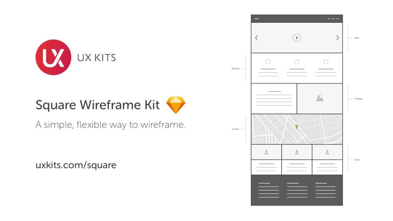 UX Kits Square Wireframe Kit Tutorial