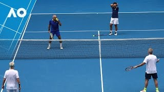 Legends: McEnroe/McEnroe v Bahrami/Santoro match highlights (1R) | Australian Open 2017