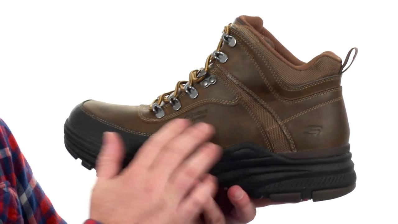 skechers relaxed fit holdren lender men's boots