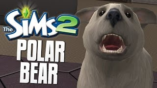PET POLAR BEAR - The Sims 2 Funny Moments #7