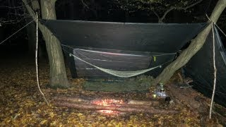 Bushcraft / Wild Camṗing in November, England.