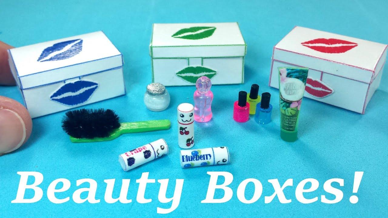 Rainbow bathroom accessories - Diy Miniature Beauty Box Case With Accessories Rainbow Tinkle S World