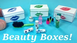 DIY Miniature Beauty Box / Case with Accessories