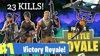 23 Kills in Squad! Fortnite: Battle Royale! ( Epic Game )
