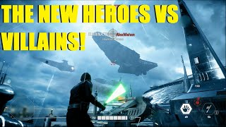 Star Wars Battlefront 2 - The NEW Heroes Vs Villains! | Post patch Luke, Phasma, & Lando! (3 games)