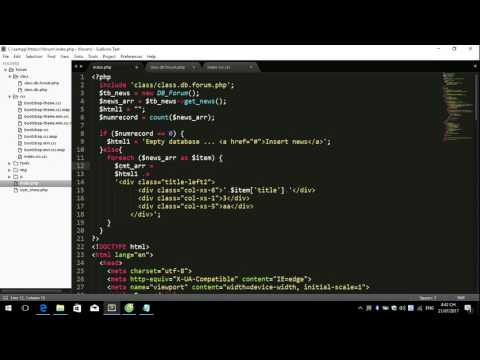 Create Forum Use PHP and Bootstrap Part 16