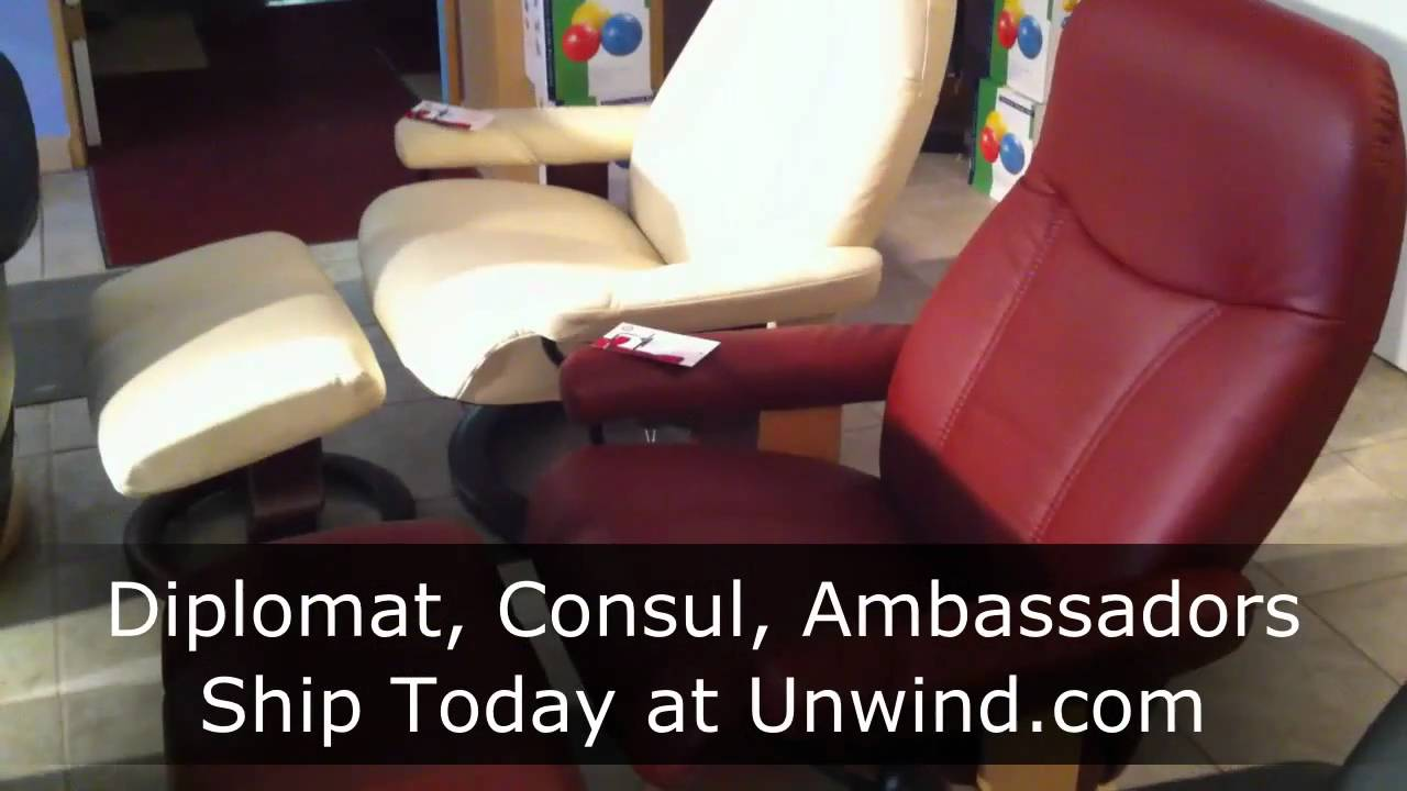 Stressless Diplomat Consul Ambassador Recliners from Ekornes - YouTube & Stressless Diplomat Consul Ambassador Recliners from Ekornes ... islam-shia.org