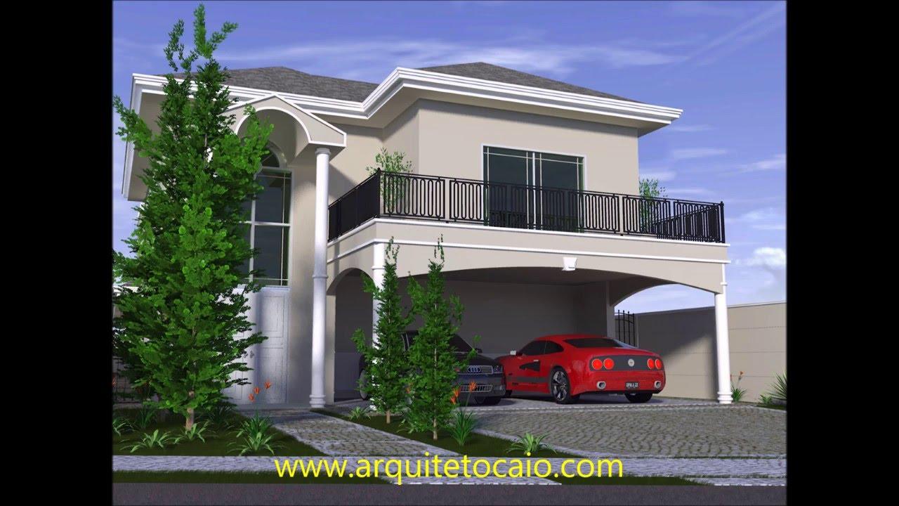 projeto casa terrea mezanino fachada classica arquitetura On fachada de la casa clasica