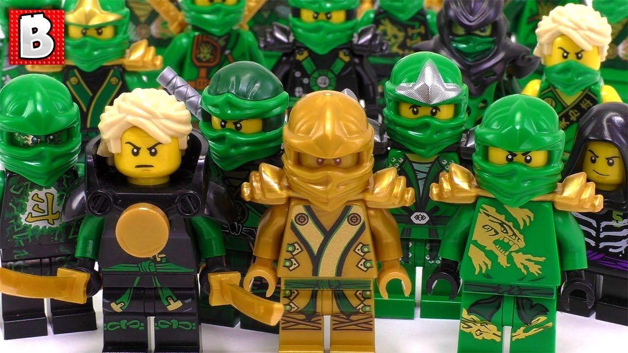 Every Lloyd Minifigure Ever Made!!! LEGO Ninjago Collection Review ...