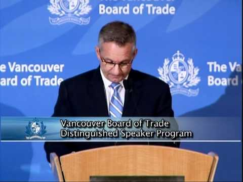 Canada's Minister of International Trade addresses The Vancouver Board of Trade
