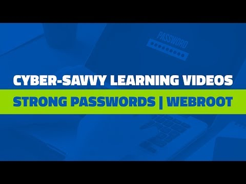 Choosing Secure Passwords | Webroot