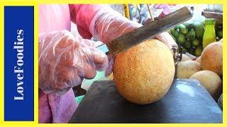 FRUIT NINJA of Muskmelon   Amazing Fruits Cutting Skills   Indian Street Food In 2018