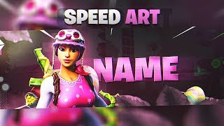•SPEED ART• FREE FORTNITE BANNER/HEADER TEMPLATE - @Kazer_Dzn