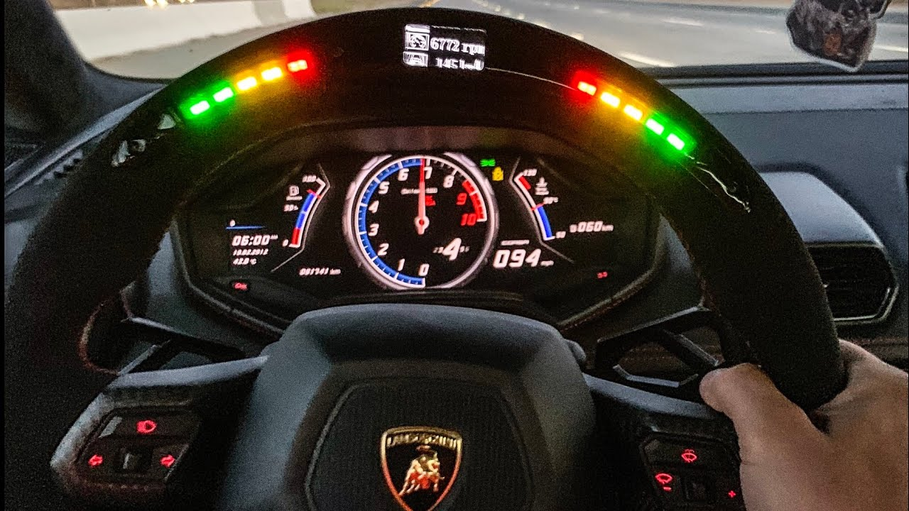 Driving Worlds First Lamborghini With Steering Wheel Shift
