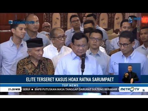 Aktor-Aktor Besar Politik Terseret Kasus Hoaks Ratna Sarumpaet
