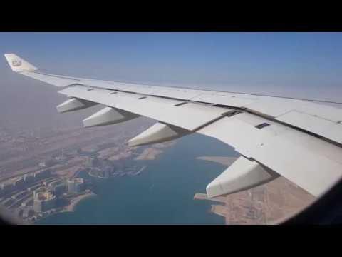 Etihad Airways A330-300 takeoff Abu Dhabi / 4K