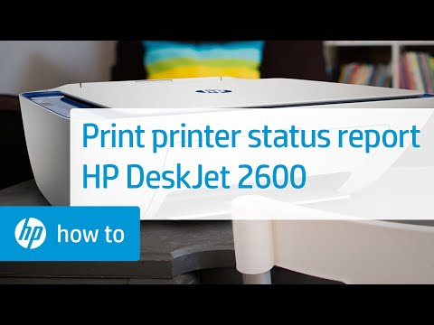 How To Print A Printer Status Report On The HP DeskJet 2600 All-in-One Printer | HP DeskJet | HP