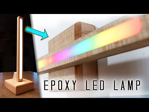 Wireless EPOXY LED 3-in-1 Lamp & Sconce || 3 Different Lamps in 1 || DIY Woodworking