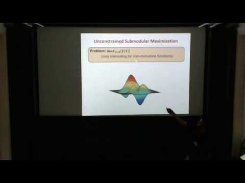 Niv Buchbinder: Deterministic Algorithms for Submodular Maximization Problems