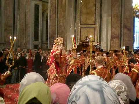 Pascha Service in St. Isaac's Cathedral