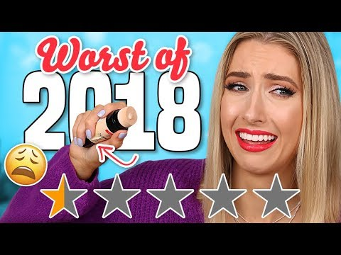 The WORST MAKEUP of 2018.... AVOID THESE PRODUCTS!! thumbnail