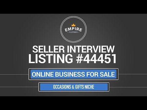Online Business For Sale – $12.7K/month in the Occasions & Gifts Niche
