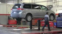 Quality service: Toyota technician