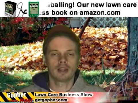How to speed up leaf collection - GopherHaul 45 Lawn Care Software Show