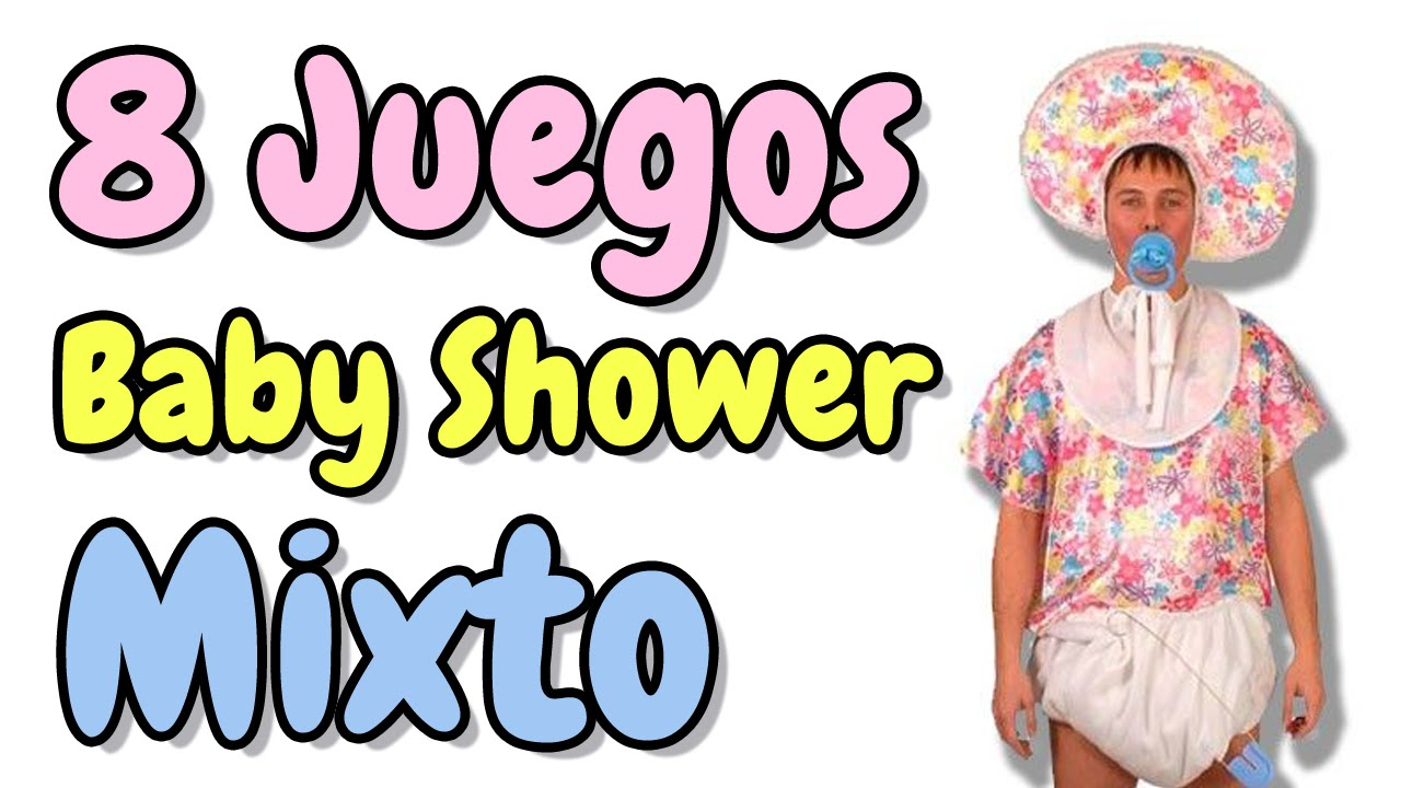 8 Juegos Para Baby Shower Mixto Hd