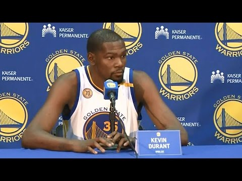 WARRIORS: Kevin Durant Talks About Joining The Warriors